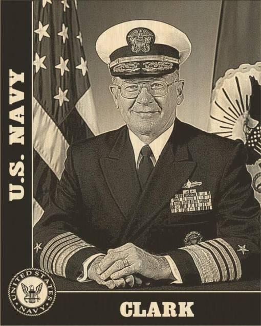 US Navy Design Laser Engraved Photo Plaque 1
