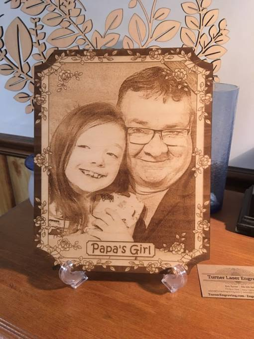 Rose Design Laser Engraved Photo Plaque 2