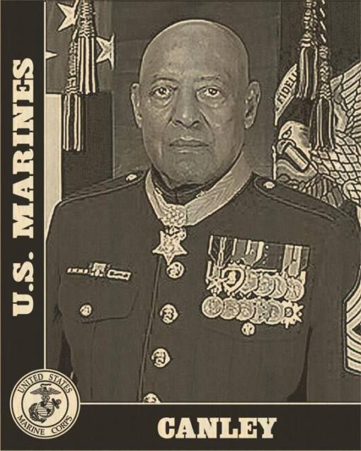 US Marines Design Laser Engraved Photo Plaque 1