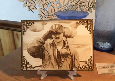 Laser Engraved Photos in Wood 3