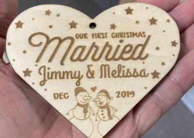 Laser Engraved Holiday Designs 5