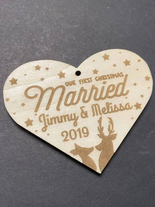 1st Christmas Married - Kissing Dear 1