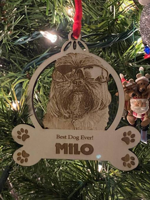 Dog Christmas Ornament 5